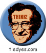 Noam Chomsky THINK! Liberal Democratic Political Magnet (Badge, Pin)