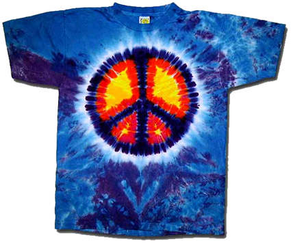 Tie Dyed Peace Sign Tee from Tara Thralls Designs' tiedyes.com