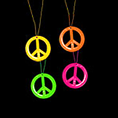Dayglo Peace Necklaces